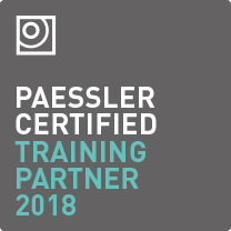 "Logo ""Paessler Certified Training Partner 2018"""